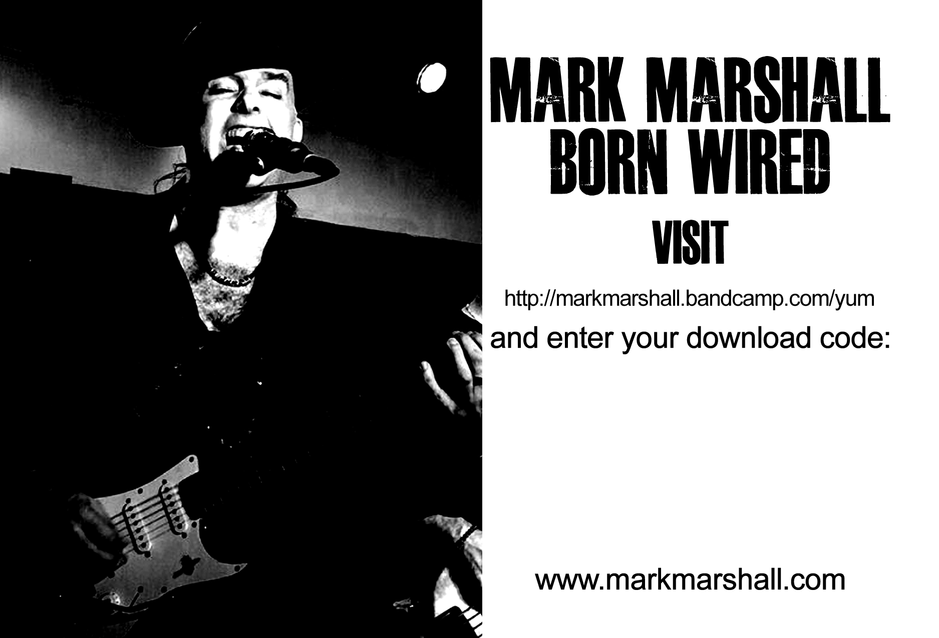 a tip for bandcamp artists making download cards mark marshall
